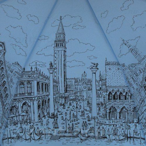 Зонт женский Венеция на голубом Три слона 197