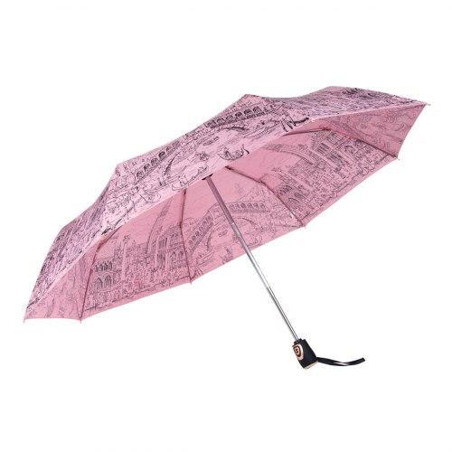 Зонт женский Розовый Три слона 197