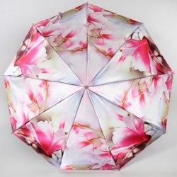 Зонт женский (Сатин) Zest 23944 Розовые цветы