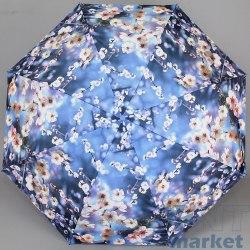 Зонт женский автомат Zest 23945 (Цветы на голубом)