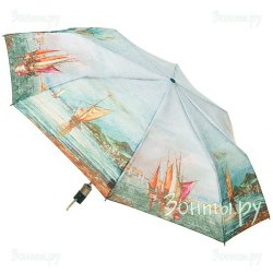 Зонт женский автомат Zest 23745 (Корабли)