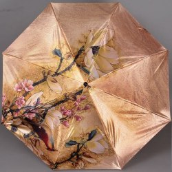 Зонт женский автомат Trust 30471 Птицы на золотом