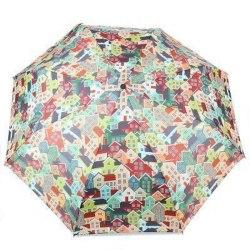 Зонт женский автомат Zest 23995 Домики